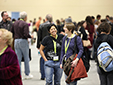 Conference attendees enjoying the bookfair.