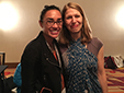 Kristiana Kahakauwila with her mentee, Sea Stachura, at the Writer to Writer Reception in Los Angeles, 2016.