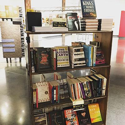 Cart full of books